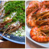 Gamba's met peterselie en knoflook