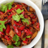 Sticky pulled chicken
