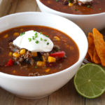 Mexicaanse chili con carne soep