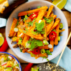 Asian style spicy sweet potato fries